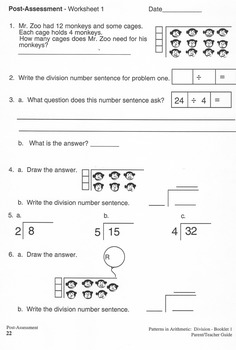 Division - Booklet 1 Basic Concepts Teacher Guide