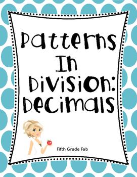 Patterns in Division - Decimals Freebie