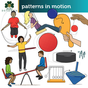 Patterns in Motion Clip Art