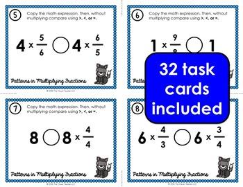 Fractions Multiplication Patterns Task Cards