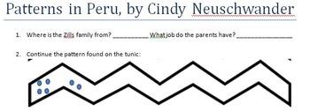 Patterns in Peru, by Cindy Neuschwander Comprehension