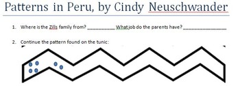 Patterns in Peru, by Cindy Neuschwander Comprehension