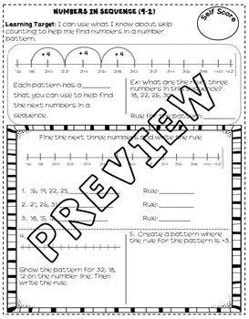Patterns in Shapes and Numbers (enVision Topic 9) Interactive Notebook
