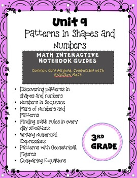 Patterns in Shapes and Numbers, Interactive Notebook {Comm