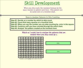 Patterns in Skip Counting Full Unit (Smartboards, quiz, and extra practice)