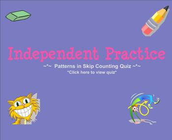 Patterns in Skip Counting: Galloping Vs with Quiz (Day 5 Smartboard)
