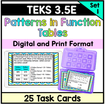 Patterns in Table- TEKS 3.5E