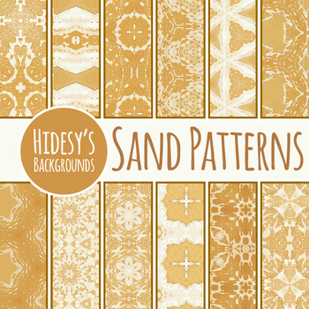 Patterns in the Sand Digital Papers / Backgrounds Clip Art Commercial Use