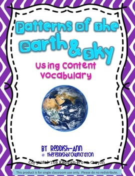 Patterns of Earth & Sky Realistic Photos: Using Content Vocabulary