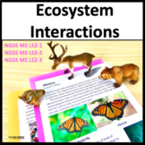 Ecosystems: Patterns of Interactions MS NGSS LS2-1 and MS NGSS LS2-2