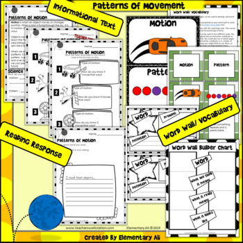Patterns of Movement: 2nd Grade Science Complete Lesson Set
