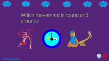 Patterns of Movement Game