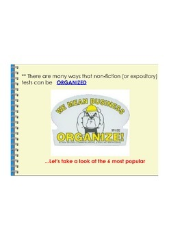 Patterns of Organization PDF (Expository Texts)