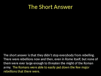 Patterns of Roman Conquest