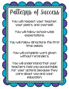 Patterns of Success