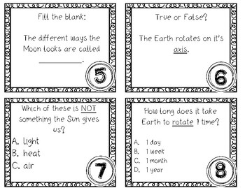 Patterns of the Sun and Moon and the Sun's effects on Earth SCOOT