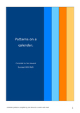 Patterns on a Calendar