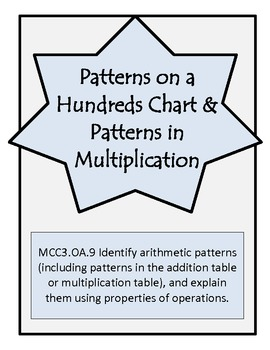Patterns on a Hundreds Chart-3rd Grade Math Operations & Algebraic Thinking OA.9
