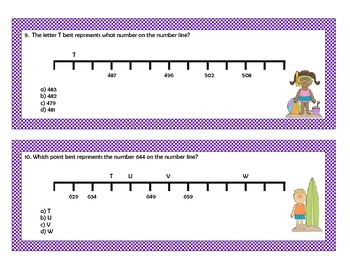 Patterns on a number line task cards