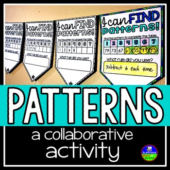 Patterns and Sequences Math Pennant Activity