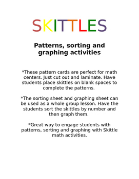 Patterns, sorting and graphing with Skittles