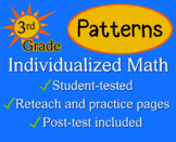Patterns, 3rd grade - worksheets - Individualized Math
