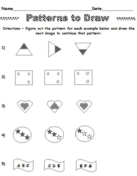 Patterns to Draw #1 and #2 (Both Sets Elem and Middle)