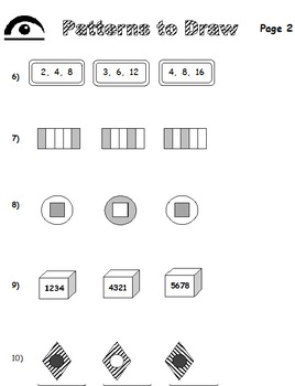 Patterns to Draw (Elem and Middle)