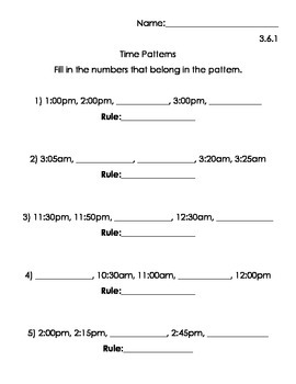 Patterns with Numbers Worksheets