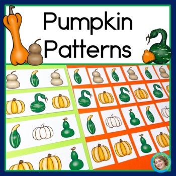 Pumpkin Patterns Math Center with AB, ABC, AAB & ABB Patterns