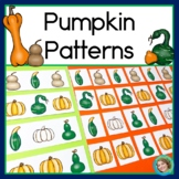 Pumpkin Patterns Math Center with AB, ABC, AAB & ABB Patterns