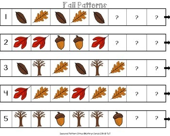 Patterns with a Fall Theme: AB, AAB, ABB, ABC