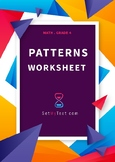 Patterns worksheet