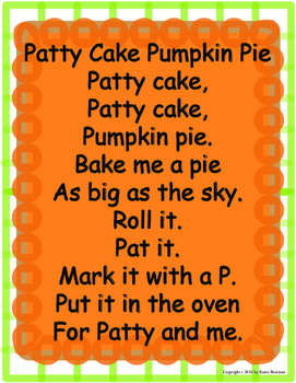 Patty Cake Pumpkin Pie