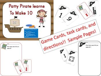 Patty Pirate Makes 5 & 10 - Common Core games/centers for K & 1