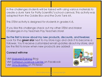 Patty Scientific Makes A Splash! (STEM Activity adapted from Goldie Blox)