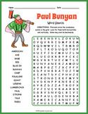 Paul Bunyan Activity - Paul Bunyan Word Search