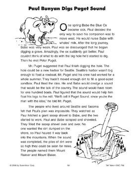 Paul Bunyan Digs Puget Sound