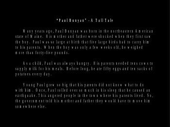 Paul Bunyan Powerpoint - Tall Tale