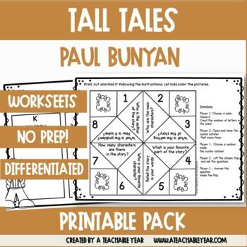 Paul Bunyan | Tall Tales | Worksheets and Activities