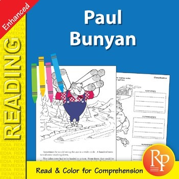 Paul Bunyan: Read & Color - Enhanced