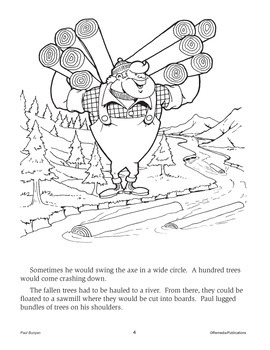 Paul Bunyan: Read & Color Story + Skill-Based Activities {Bundle}