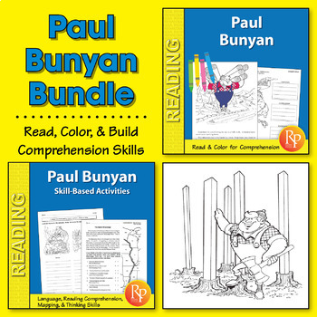 Paul Bunyan: Read & Color Story + Skill-Based Activities {Bundle}