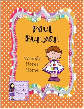 Paul Bunyan Weekly Letters (Scott Foresman Reading Street)