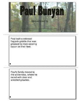 Paul Bunyan Sequencing and Retell