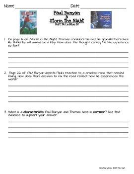 2014 Paul Bunyan & Storm in the Night Readygen 3rd Grade Unit 3 Module A 16