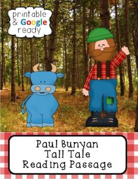 Paul Bunyan Tall Tale Close Reading Passage