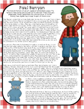 Paul Bunyan Tall Tale Close Reading