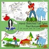 Paul Bunyan Tall Tales Clip Art Bundle