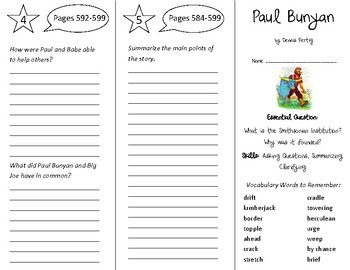 Paul Bunyan Trifold - Open Court 4th Grade Unit 6 Lesson 1